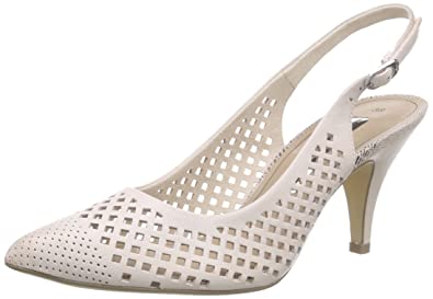 Damen 29603 Pumps, Weiß (White 100), 40 EU Tamaris