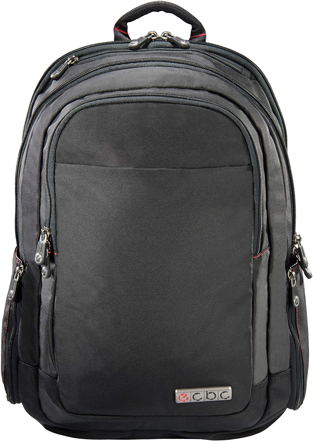 ECBC 19.4 Inch Lance Daypack Travel Backpack TSA-Approved FastPass System Lightweight Water-Resistant Business Overnight Bag Adjustable Straps 17 Padded Laptop Sleeve – Black B7103-10