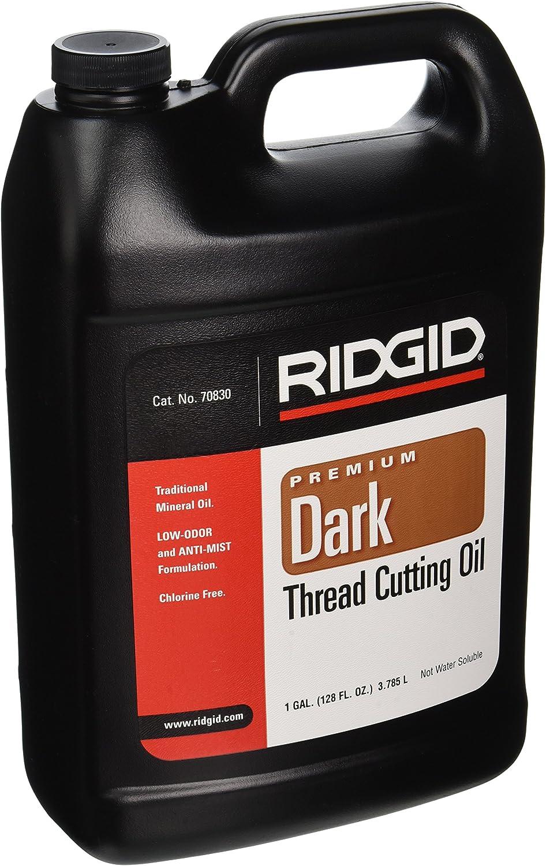RIDGID 70830 Dark Thread Cutting Oil, 1 Gallon of Dark Pipe Threading Oil