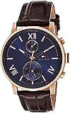 Tommy Hilfiger Men's Analogue Quartz Watch with Leather Calfskin Strap 1791308
