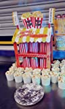 Talking Tables Street Stalls Stand de Hot dog et Pop-corn, Présentoir à Friandises pour Anniversaire, Fête d'Enfants, Enfant, Goûter Festif, Mariage et Festivités, Multicolore