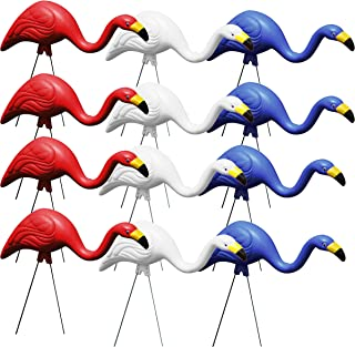 product image for Bloem Bulk G3-12 Red White & Blue American Mingo Flamingo Yard Stakes (12-Pack), 12 Pack