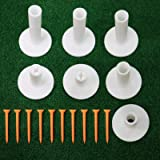 FINGER TEN Golf Rubber Tees Driving Range 3 Inch 1.5'' 2.25'' 2.75'' 3.13'' Tee Holder for Mat 1.5'' 2'' with Plastic Tees In