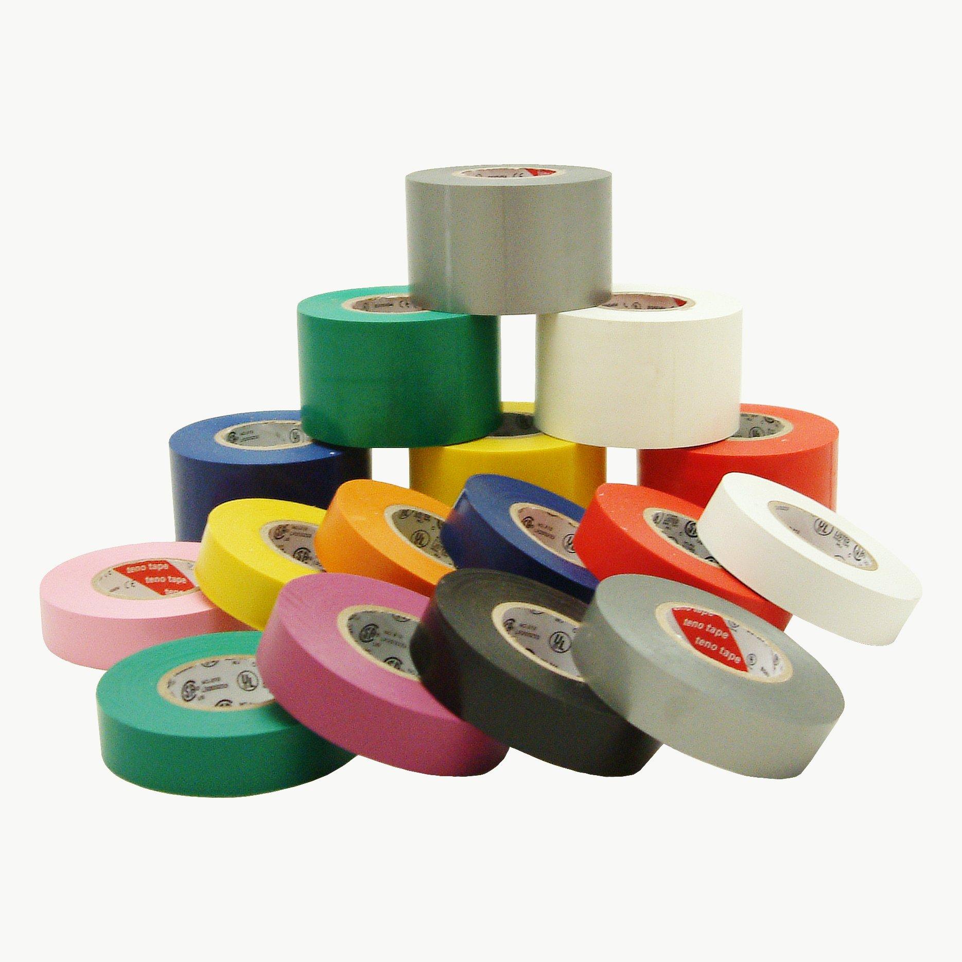 J.V. Converting E-TAPE/PI07522 JVCC E-Tape Colored Electrical Tape, 66' Length x 3/4'' Width, Pink