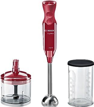 Bosch MSM67120R ErgoMixx Batidora de mano, 750 W, color rojo ...