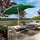 Miadomodo Ombrellone per giardino terrazza balcone esterno 2 x 1,55 m colore a scelta