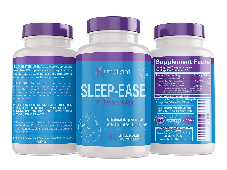 Amazon.com: #1 Sleep Aid Supplement Pills + Melatonin, Valerian, Vitamin B6, Chamomile, Magnesium + All Natural Non Habit Forming Sleeping Pill Works Fast ...