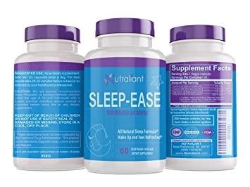 #1 Sleep Aid Supplement Pills + Melatonin, Valerian, Vitamin B6, Chamomile,