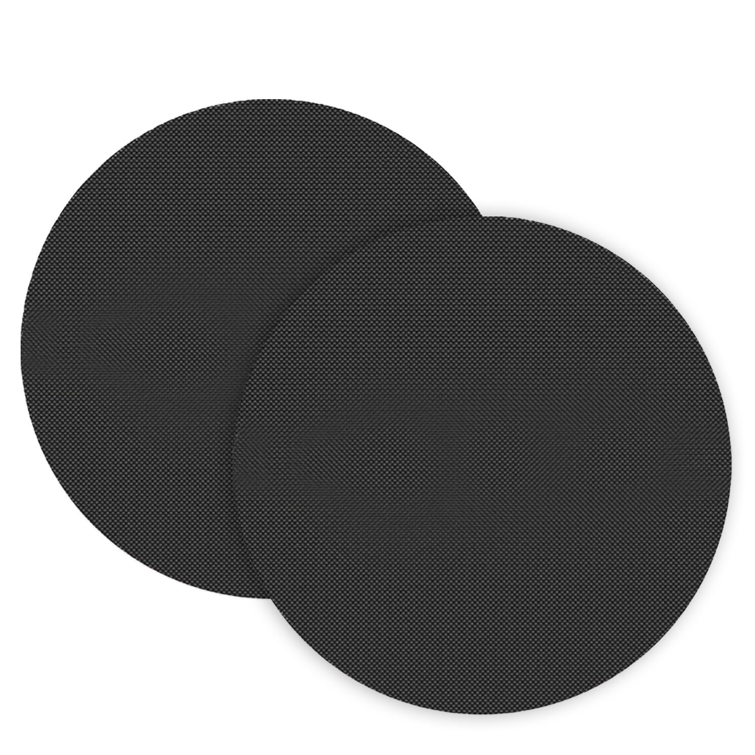 Grill Mat, 2 PCS Reusable Round Non Stick Barbecue Mat BBQ Pad Sheet Baking Pan Fry Liner for Charcoal Grills Electric Ovens Microwave Ovens Migavan
