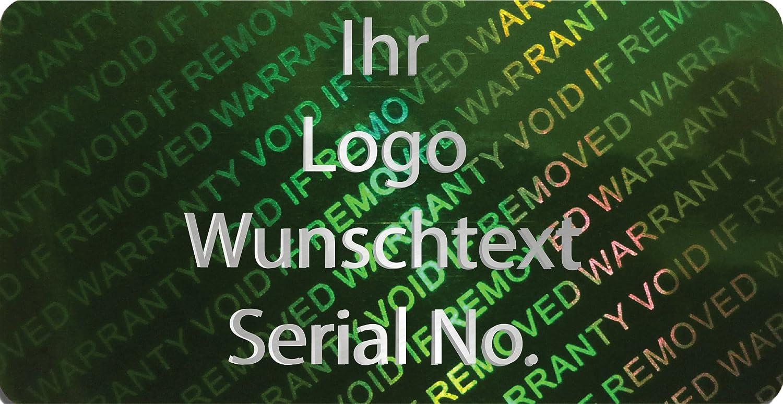 EtikettenWorld BV, BV, BV, EW-H-2700-67-tsi-700, 700 Stück Hologrammaufkleber, 2D, 20x40mm grünfarbige Metallfolie, bedruckt in silber-glänzend mit Ihrem Wunschtext Logo, Hologramm Etiketten, selbstklebend, Hologramm Aufkleber, Sicherheitssiegel, G 580598