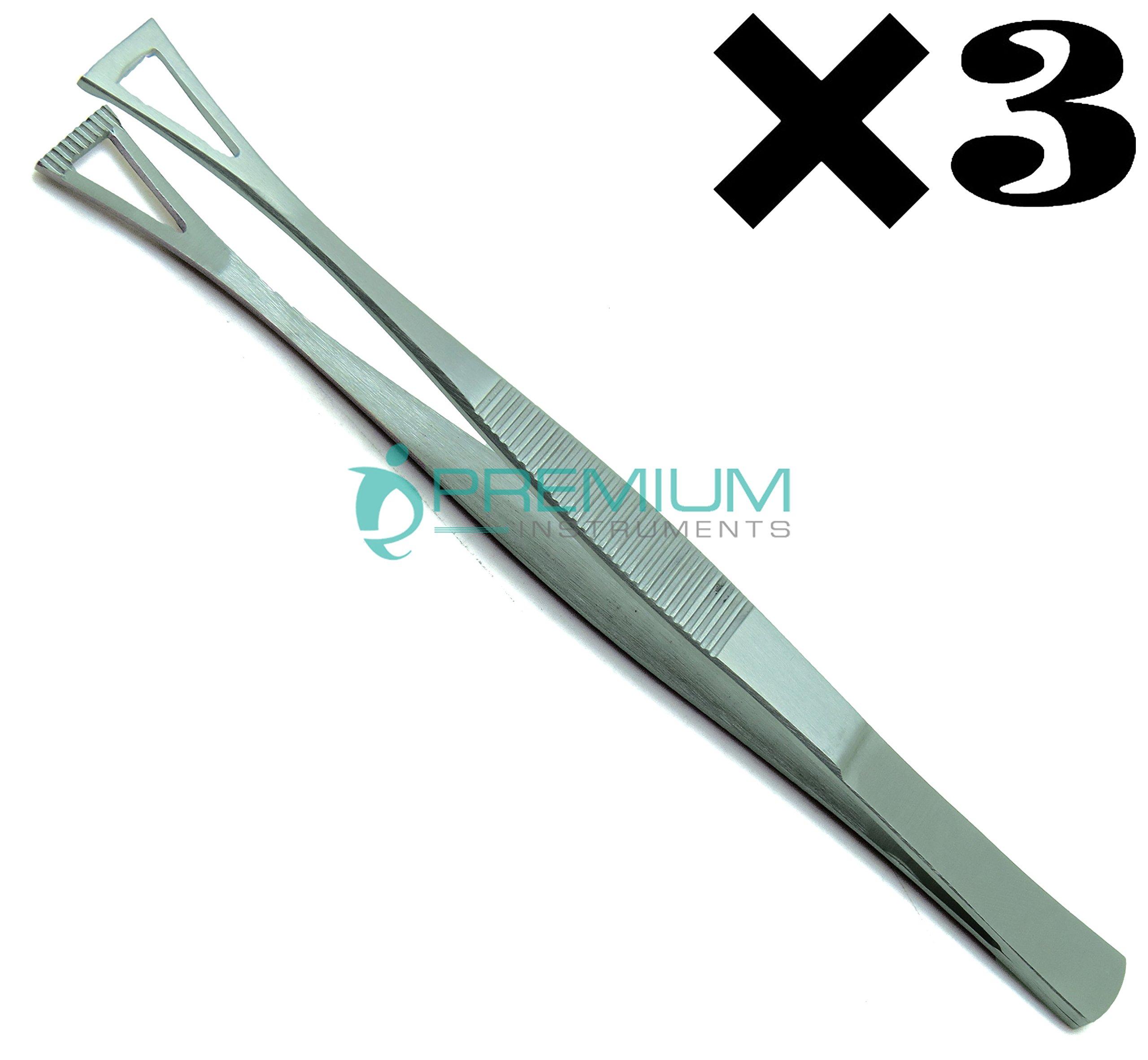 3× Collin Duval Tissue Forceps 15cm Body Piercing Tweezer Premium Instruments
