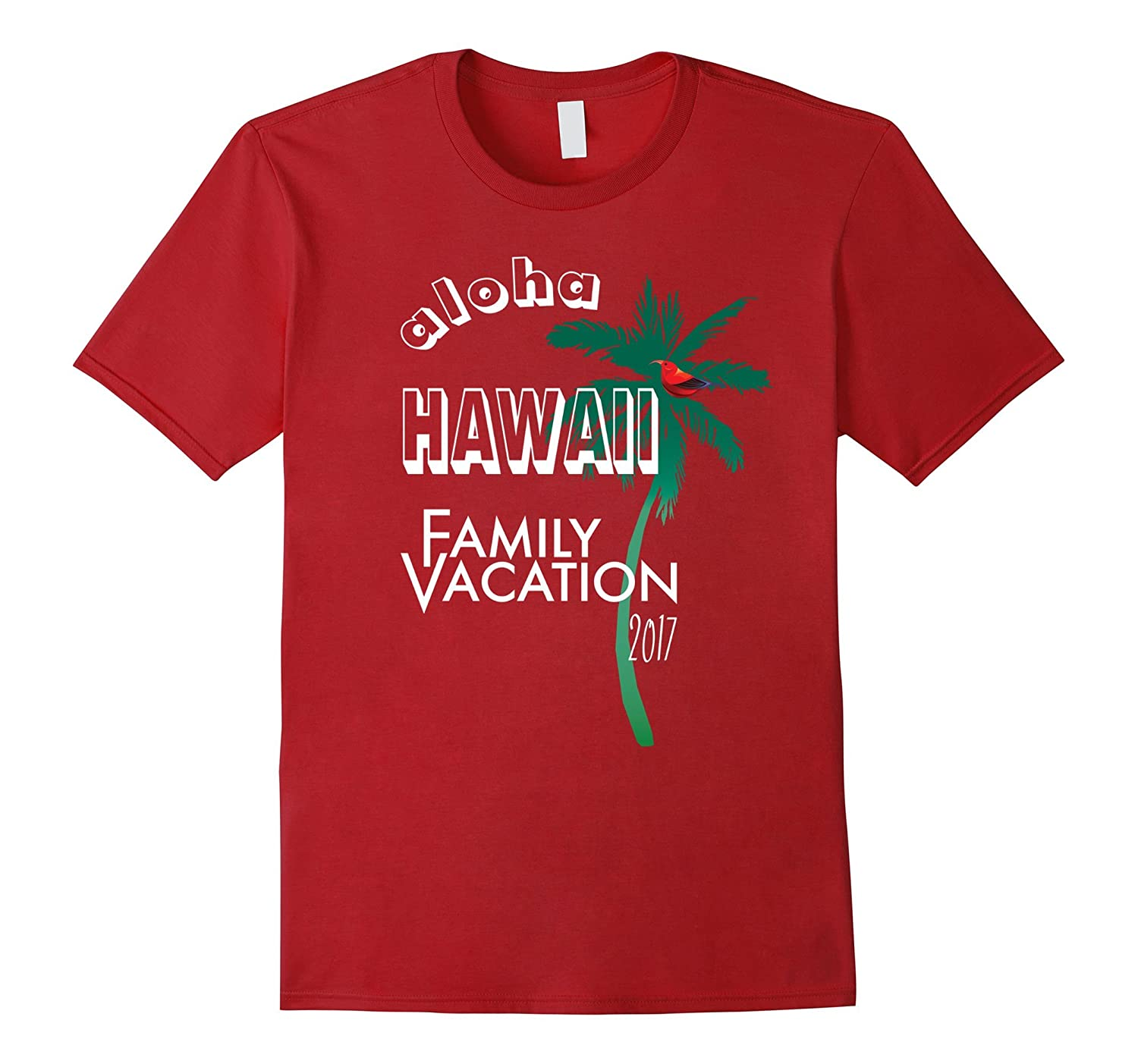 Hawaii Family Vacation Shirt 2017-Souvenir Holiday Tee-T-Shirt