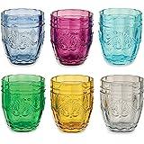 Villa d'Este Home Tivoli Syrah Set Bicchieri Acqua, Vetro, Multicolore, 6 Pezzi