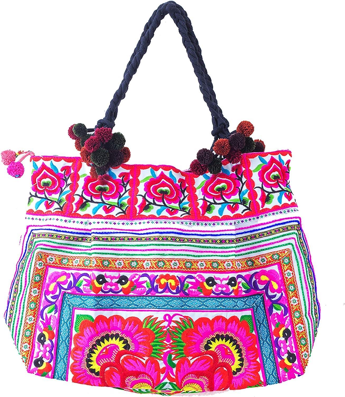 #03 Hmong Tribe Hand Woven Textile Handbag Shoulder Bag Vintage