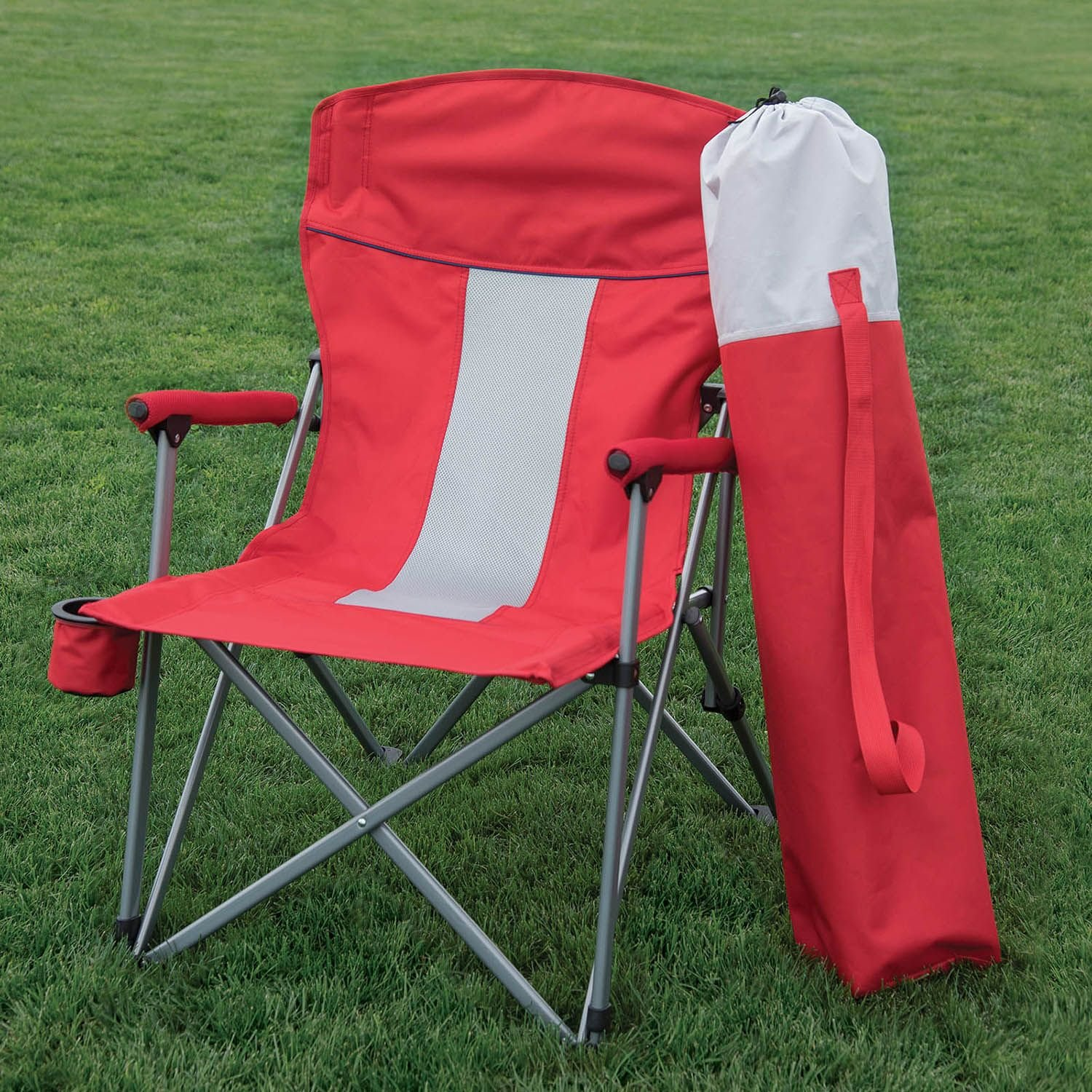 Member s Mark Folding Hard Arm Chair Red Amazon Patio Lawn