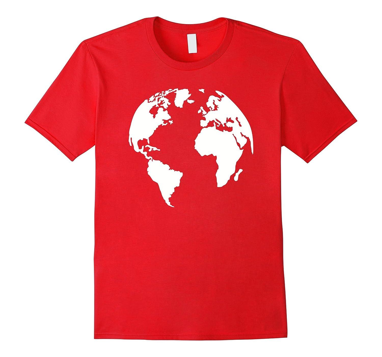 Globe world map T Shirt Goatstee