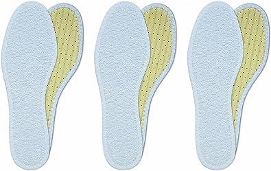 Lenzen 3 Pares de Plantillas de Rizo de Algodón I Usar sin Calcetínes I Suelas Lavables à Mano: Amazon.es: Zapatos y complementos