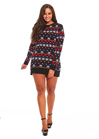 YOU LOOK UGLY TODAY Ladies Christmas Sweater Dress Womens Tunic ...