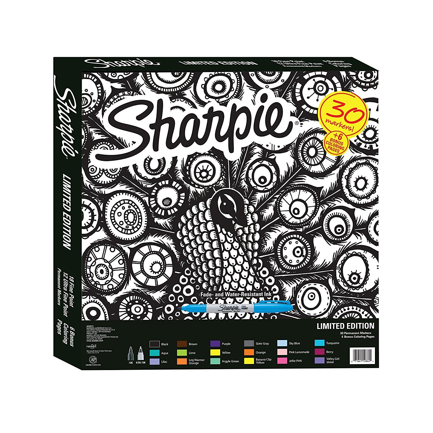 Amazon Sharpie Special Edition 30 Count Marker Set Toys Games