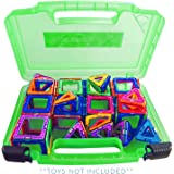 Life Made Better New Magnetic Carrying Case, Compatible with Magformers and Magna Tiles, Playset Organizer (Green)