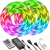 Led Strip Lights 32.8ft 10m UMICKOO Color Changing LED Lights Strip with SMD 5050 RGB 300 LEDs Light Strips and 44 Keys…
