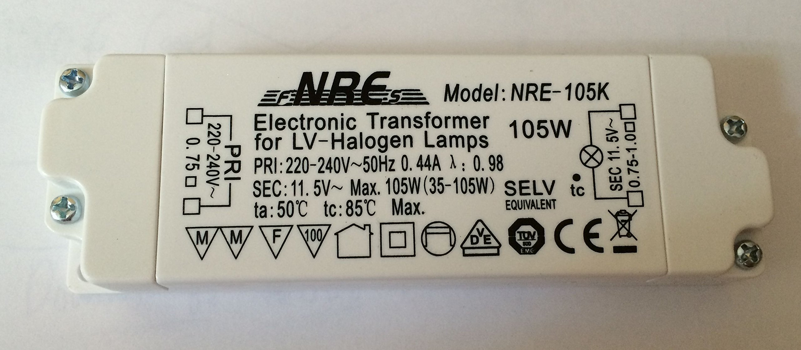 Transformateur halog/ène 60 vA 60 w-nRE 60 w et transformateur 60 vA 60 w micro beige