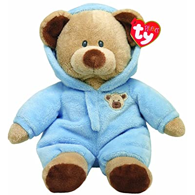 "Ty Pluffies Pj Bear 9"" Blue: Toys & Games"