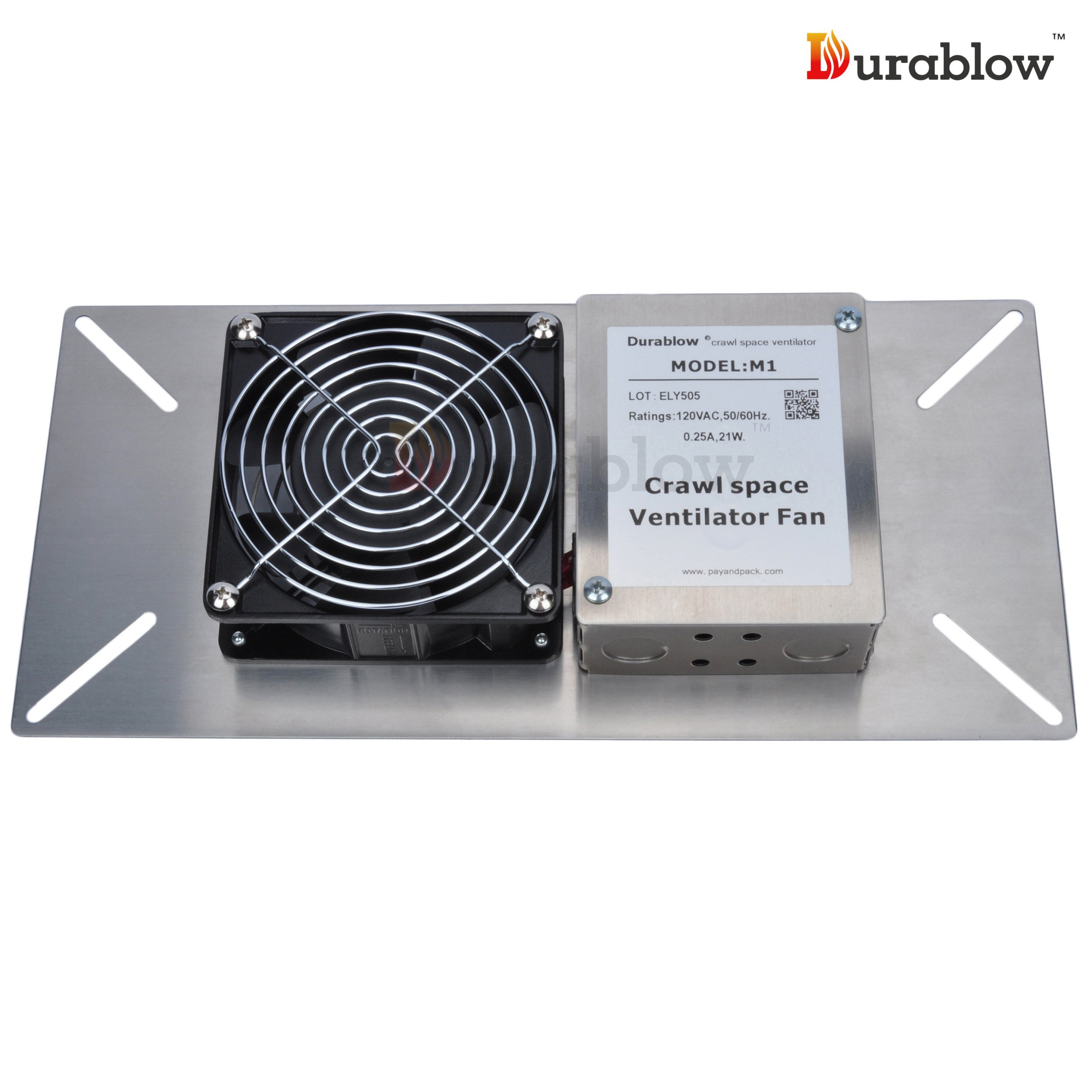 Durablow Stainless Steel 304 Crawl Space Foundation Fan Ventilator MFB M1 by Durablow (Image #4)
