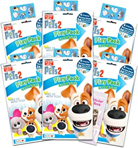 Secret Life of Pets Party Favors Pack ~ Bundle of 6 Secret Life of Pets Play Packs Filled with Stickers, Coloring Books, Crayons and More (Secret Life of Pets Party Supplies)