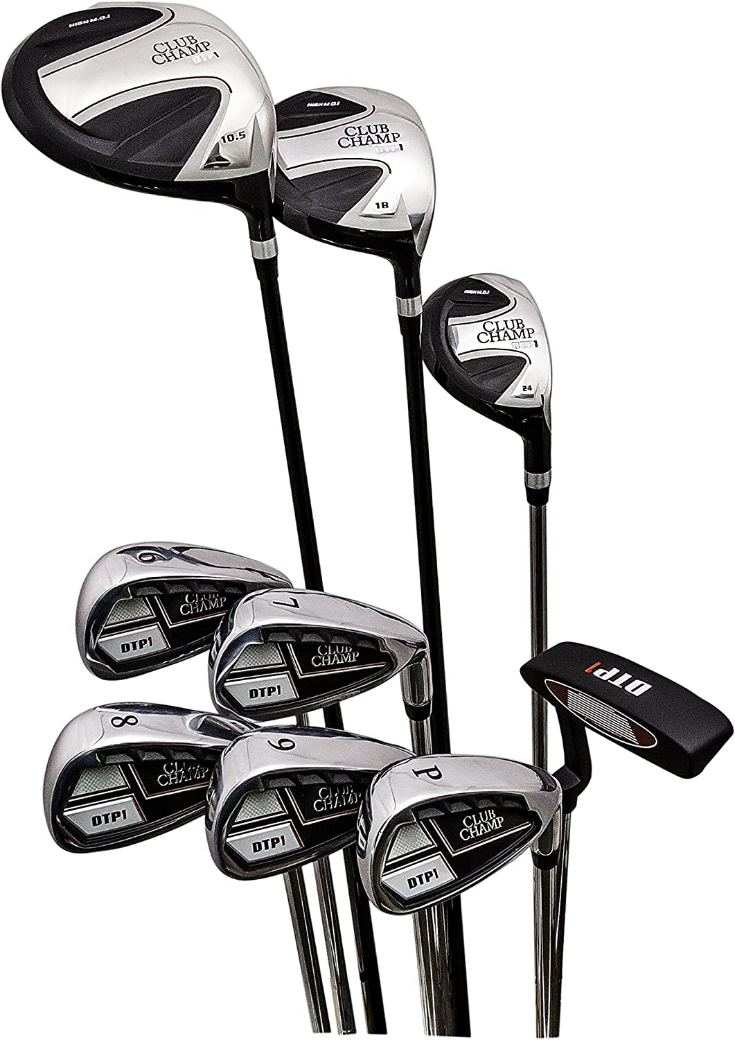 Club Champ Men's Complete DTP (Designed to Play) Golf Club Set