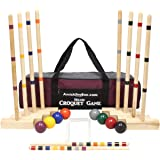 AmishToyBox.com Family Traditions 8-Player Croquet Set with Duffel Carry Bag