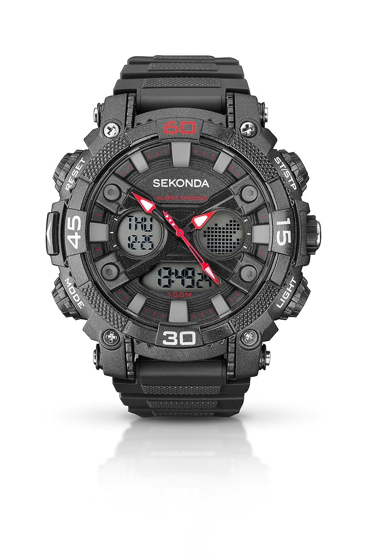 SEKONDA 1036.05 - Reloj de Cuarzo para Hombres, Color Negro