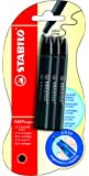 Stabilo Refill S Move Pack of 6 - Color: Black