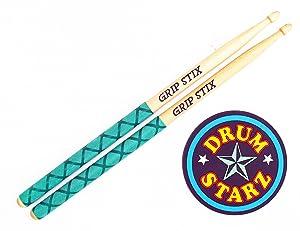 Pocket Stix GRIP STIX Drumsticks for Kids STARTER PACK - 13