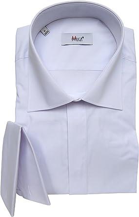 MUGA mmuga sobre Manguitos Camisa para Hombre, Blanco, Tallas S – 5 x l: Amazon.es: Ropa y accesorios