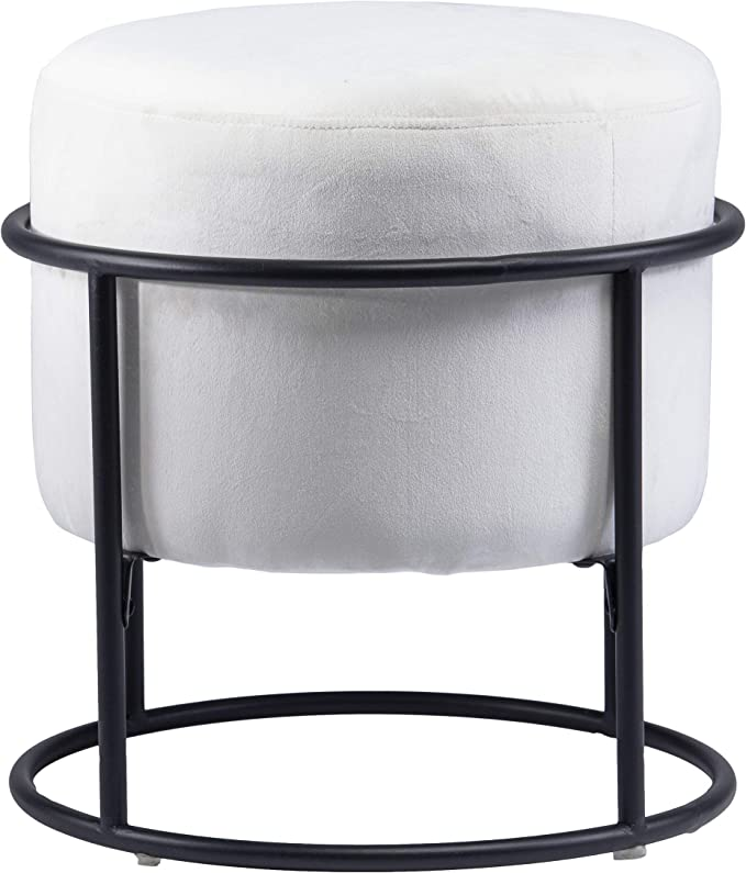 Holly Martin Uplynn Round Upholstered Ottoman Furniture Decor