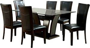 Furniture of America Coble 7 Piece Counter Height Dining Set