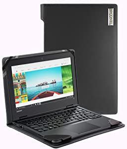 Broonel - Profile Series - Black Leather Luxury Laptop Case Compatible with The Dell Latitude 7390 2-in-1