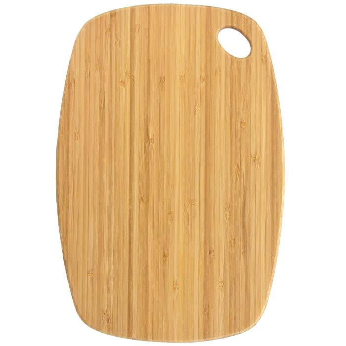 "Totally Bamboo GreenLite Dishwasher Safe Bamboo Cutting Board, ""Jet"" Series 13-1/2"" x 9"""