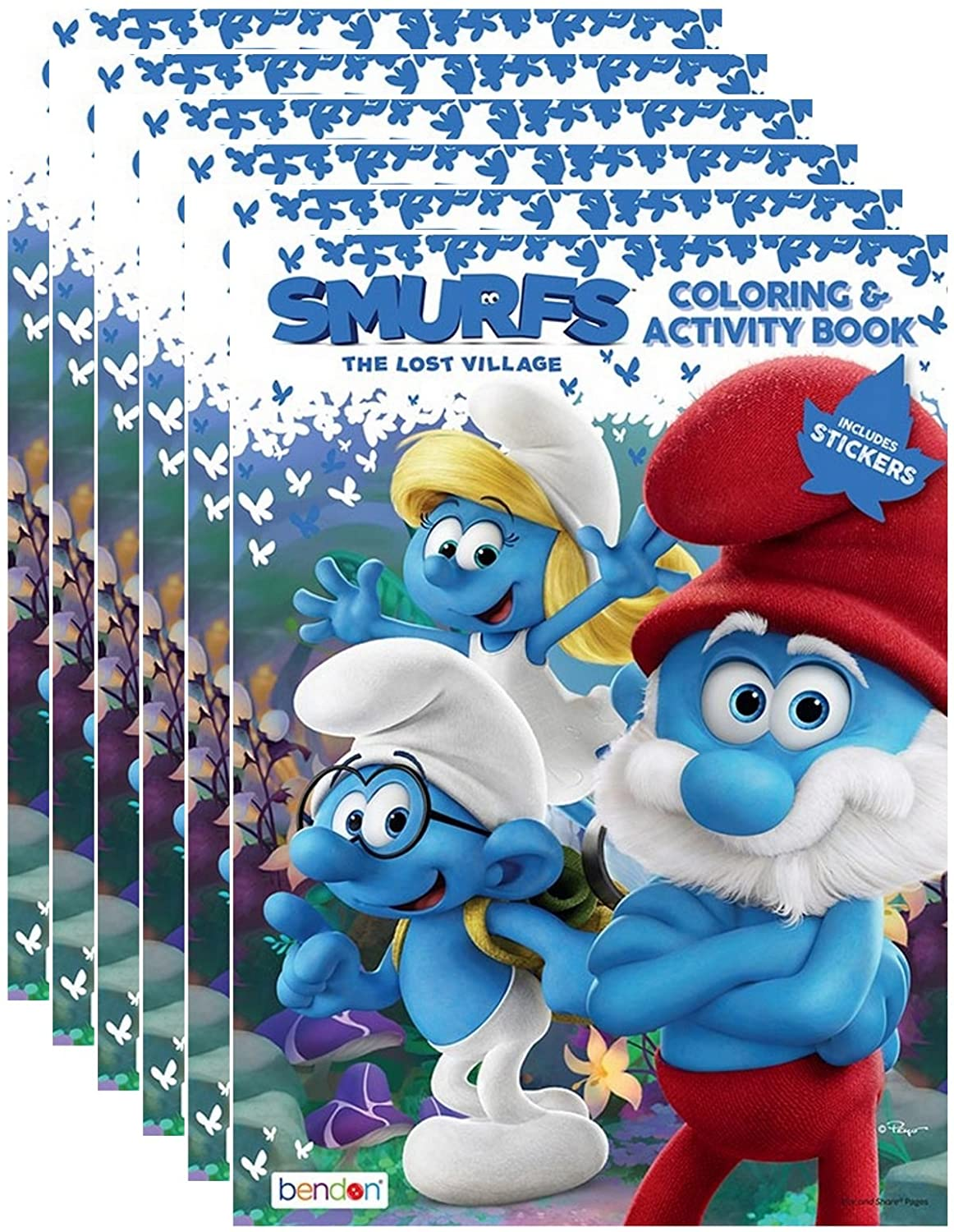 Amazon.com: Smurfs The Lost Village Coloring and Activity Book with ...