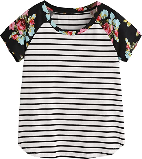 Cute Boy Baby Floral Short Sleeve Tee Shirts Cotton Soft Casual O-Neck All Sizes