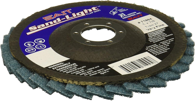 5 x 7//8 5 Per Box Very Fine United Abrasives-SAIT 71994 Sandlight Flap Disc