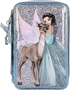 Depesche 10690 – Estuche con 3 Cremalleras, Fantasy Model Iceprincess, Aprox. 7,5 x 13 x 20 cm, Color Azul.: Amazon.es: Juguetes y juegos