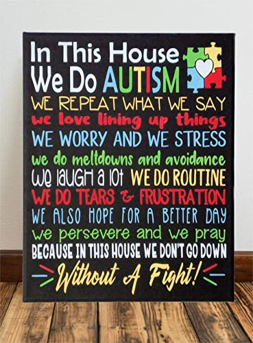 Autism Awareness Painted Canvas Sign
