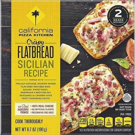 california pizza kitchen sicilian recipe crispy flatbread frozen rh amazon com