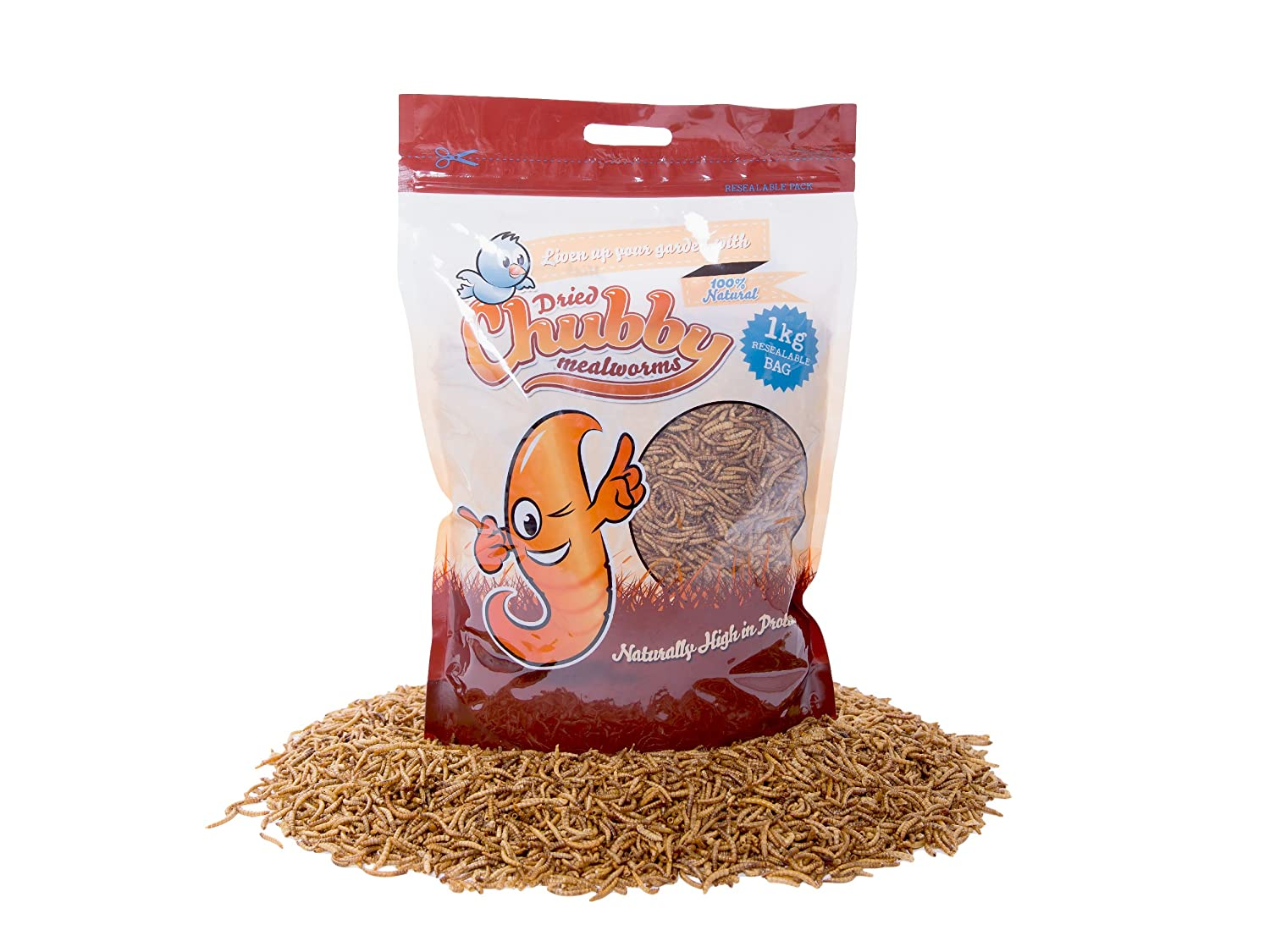 Chubby Mealworms Dried Mealworms, 1 kg