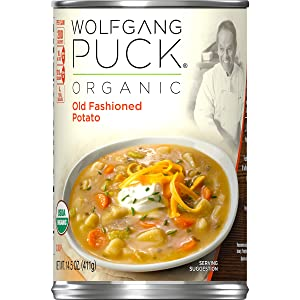 Wolfgang Puck Organic Old Fashioned Potato Soup, 14.5 oz. Can (Pack of 12)