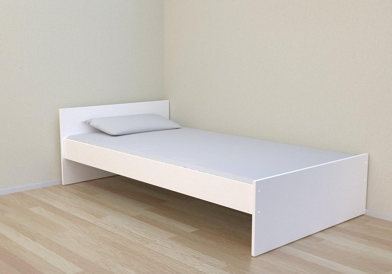 Best For Kids Simple Kinderbett 90x200 cm weiß inklusiv Lattenrost