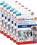 6er Pack tesa Powerstrips Strips LARGE für max. 2kg, Packung mit 10 Strips
