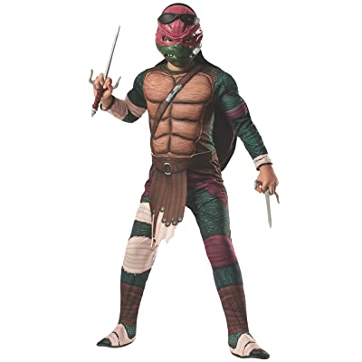 Rubies Teenage Mutant Ninja Turtles Deluxe Muscle-Chest Raphael Costume, Small: Toys & Games